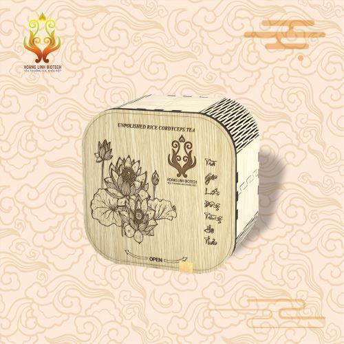 Trà Gạo Lức Đông Trùng Hạ Thảo Hộp Gỗ - Hình 2