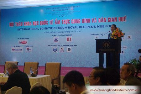Hoàng Linh Biotech Tham Dự Hội Thảo Khoa Học Quốc Tế Ẩm Thực Cung Đình Và Dân Gian Huế 2018