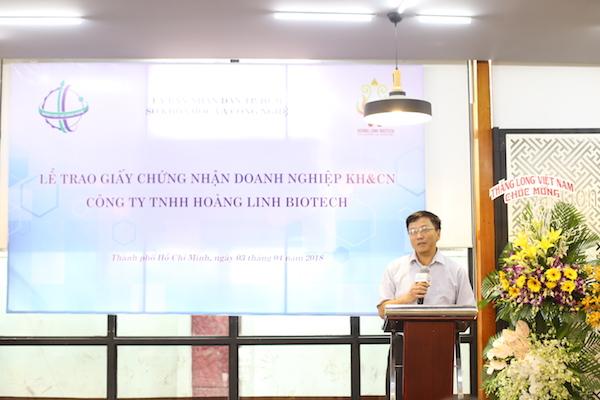Sở KHCN trao chứng nhận Doanh nghiệp Khoa học và Công nghệ cho Hoàng Linh Biotech - Hình 1